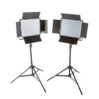 Menik LED Foto-Video SET 2x LS-600 38 W + 2x Statief